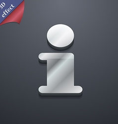 Information Info icon symbol 3D style Trendy vector