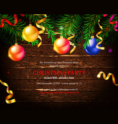 Invitation to a christmas party vector