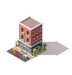 isometric barbershop vector image