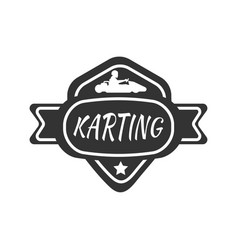 Karting club or kart races sport car vector