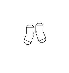 Kid socks icon vector