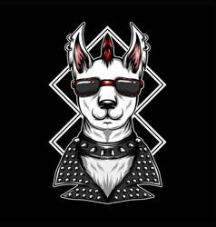 llama eyeglasses vector image
