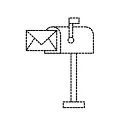 mailbox envelope message letter communication vector image