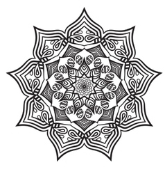 mandala black white relax pattern vector image