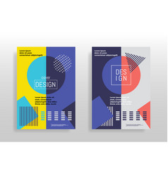 Minimal abstract design posters covers templates vector