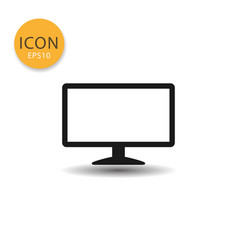monitor icon isolated flat style vector image