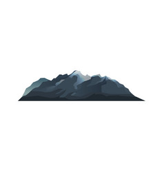 mountain range isolated icon vector image