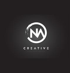 Na circular letter logo with circle brush design vector