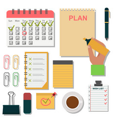 Notebook agenda business note plan work vector