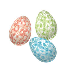 pale color easter egg decoration floral vector image