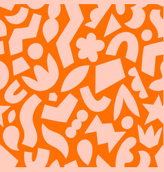 paper cut out fun abstract shapes pattern vector image