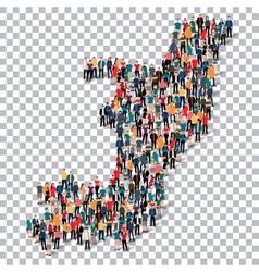 people map country republic congo vector image