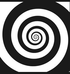 Psychedelic spiral with radial ray vector