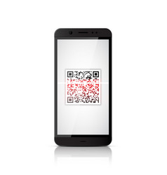 qr code scanning smartphone vector image