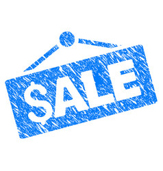 sale signboard grunge icon vector image