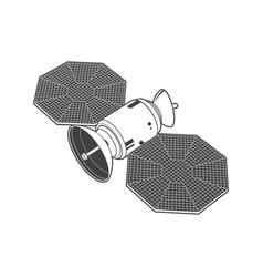 Satellite isolated on white background vector