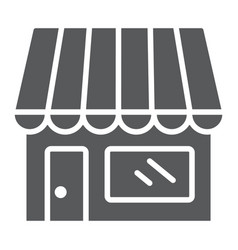 Store glyph icon business and market shop vector
