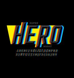 superhero style comics font vector image