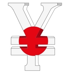 Symbol of the money to japan vector