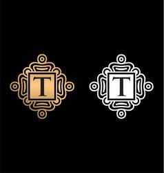 T letter logo monogram logo letter vector