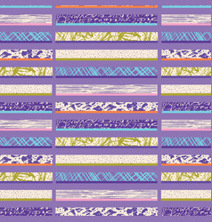 textured stripes seamless pattern bright vector image