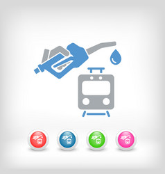 train fuel icon vector image
