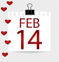 Valentines calendar - 14 february vector