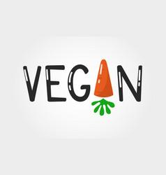 Vegan logo color vector