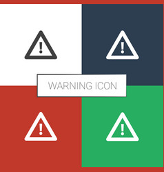 Warning icon white background vector