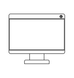 white background with monochrome silhouette of lcd vector image