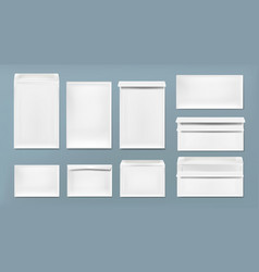 White envelope a4 dl and c6 template vector