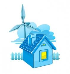 wind turbines vector image