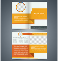 Yellow bifold brochure template design vector