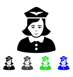 Airline stewardess flat icon vector