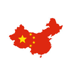 china map and flag vector image vector image