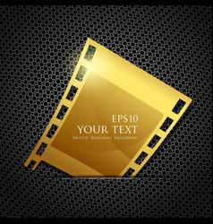 Empty gold camera film roll vector image