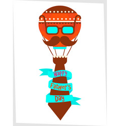 poster happy fathers day greetings vector image vector image