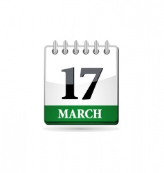 st patrick day calendar vector image vector image