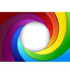 Bright rainbow background - focus vector image vector image
