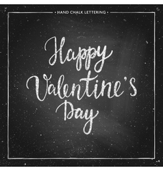 chalk lettering - Valentines Day vector image vector image