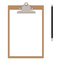 Clipboard and pencil vector image