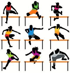 hurdles set vector image vector image