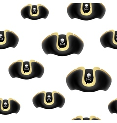 Pirate hat background vector image vector image