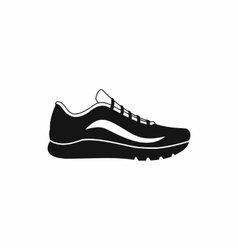 Sport shoes icon simple style vector image vector image