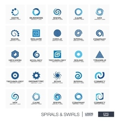 Abstract logo set for business company Wave vector image
