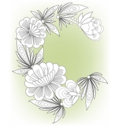 Frame card with flowers vector image vector image
