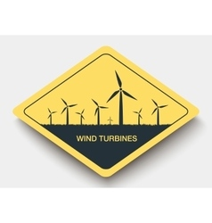 icon wind turbines and energy vector image vector image