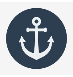 Pirate or sea icon anchor Flat design style modern vector image vector image