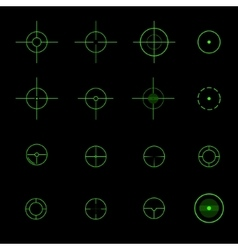 Set of different crosshairs vector image
