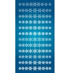 Set of scribble snowflakes borders vector image vector image